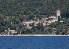 Monastero di Dochiariou in supporto di Athos, Grecia Fotografia Stock Libera da Diritti