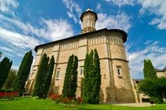 Monastero di Dragomirna, Romania immagine stock