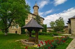 Monastero di Dragomirna, Romania fotografia stock
