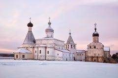 Monastero di Ferapontov ad alba Immagine Stock Libera da Diritti