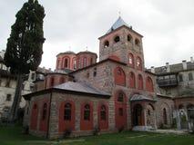 Monastero di Filotheu sul monte Athos Fotografie Stock