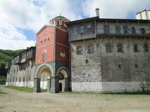 Monastero di Filotheu sul monte Athos Fotografia Stock Libera da Diritti