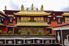Monastero di Ganden nella regione autonoma del Tibet, Cina fotografie stock