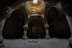 MONASTERO DI GEGHARD, ARMENIA - 4 AGOSTO 2017: Monastero di Geghard Fotografie Stock
