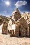 Monastero di Geghard a Yerevan fotografia stock libera da diritti
