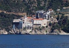 Monastero di Gregoriou (il monte Athos, Grecia) Immagini Stock Libere da Diritti