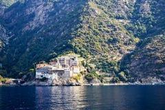 Monastero di Gregoriou, il monte Athos santo Fotografia Stock