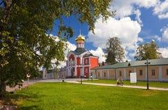 Monastero di Iversky nella regione di Novgorod Immagine Stock Libera da Diritti