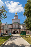 Monastero di Iversky nella regione di Novgorod Fotografie Stock Libere da Diritti