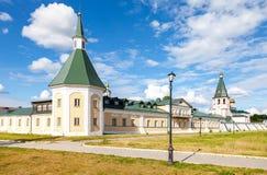 Monastero di Iversky nella regione di Novgorod Immagini Stock Libere da Diritti