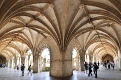Monastero di Jerónimos a Lisbona Fotografie Stock