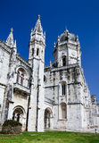 Monastero di Jeronimos a Belem, Lisbona Immagini Stock Libere da Diritti