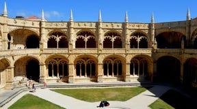 Monastero di Jeronimos, Belem, Lisbona Immagini Stock