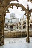 Monastero di Jeronimos e chiesa di Santa Maria lisbona fotografia stock libera da diritti