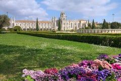 Monastero di Jeronimos, Lisbona, Portogallo Fotografie Stock Libere da Diritti