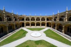 Monastero di Jeronimos, Lisbona, Portogallo Fotografia Stock Libera da Diritti