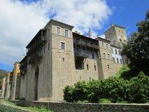 Monastero di Karakallou sul monte Athos fotografia stock libera da diritti