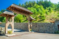 Monastero di legno di Barsana, Maramures, Romania Fotografia Stock Libera da Diritti