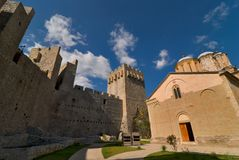 Monastero di Manasija in Serbia immagini stock