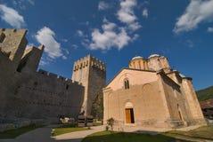 Monastero di Manasija in Serbia Fotografie Stock