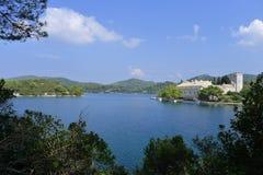 Monastero di Mary santa, isola Mljet, Croatia Immagine Stock