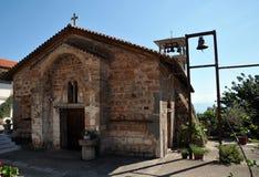 Monastero di Metamorfosi Sotiros in Grecia fotografie stock libere da diritti