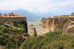 Monastero di Meteora Immagini Stock