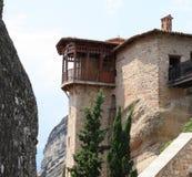 Monastero di Meteora in Grecia fotografie stock libere da diritti