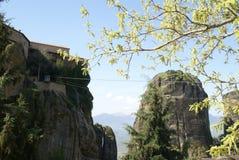 Monastero di Meteora in Grecia Fotografia Stock Libera da Diritti