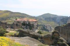 Monastero di Meteora in Grecia, miracolo Fotografia Stock Libera da Diritti
