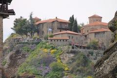 Monastero di Meteora in Grecia, miracolo Fotografie Stock