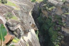 Monastero di Meteora in Grecia, miracolo Fotografia Stock