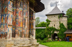 Monastero di Moldovita, Romania Fotografia Stock Libera da Diritti