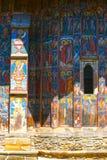 Monastero di Moldovita, uno dei monasteri dipinti famosi in Romania, eredità dell'Unesco Fotografia Stock Libera da Diritti