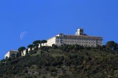 Monastero di Montecassino fotografia stock libera da diritti
