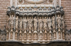 Monastero di Montserrat Fotografie Stock Libere da Diritti