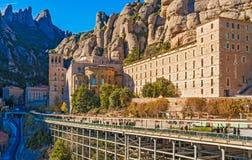 Monastero di Montserrat vicino a Barcellona, Spagna Fotografia Stock
