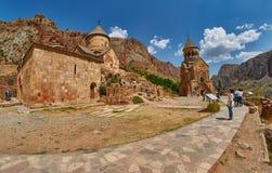 MONASTERO DI NORAVANK, ARMENIA - 2 AGOSTO 2017: Monastero di Noravank Fotografia Stock Libera da Diritti