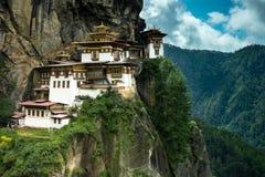 Monastero di Paro Taktsang Fotografia Stock Libera da Diritti