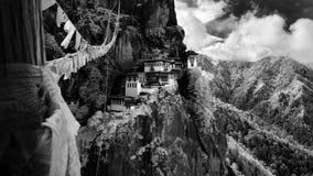 Monastero di Paro Taktsang Fotografie Stock Libere da Diritti