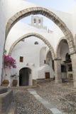 Monastero di Patmos di St John immagine stock libera da diritti