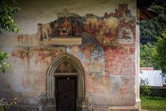 Monastero di Patrauti - dettaglio dell'affresco Fotografia Stock Libera da Diritti