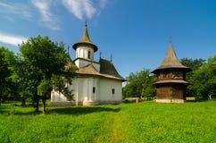 Monastero di Patrauti in Suceava, Romania fotografie stock