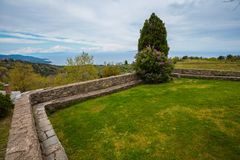 Monastero di Philotheou sul monte Athos fotografia stock