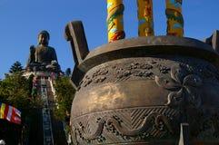 Monastero di Po Lin, Tian Tan Buddha Fotografia Stock Libera da Diritti