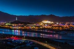 Monastero di Potala nel Tibet Fotografie Stock Libere da Diritti