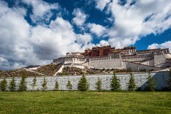 Monastero di Potala nel Tibet Fotografie Stock