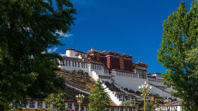 Monastero di Potala nel Tibet Fotografia Stock