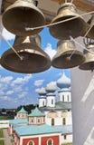 Monastero di presupposto di Tichvin, un ortodosso russo, & x28; Tihvin, regione di San Pietroburgo, Russia& x29; Fotografie Stock Libere da Diritti