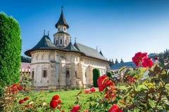 Monastero di Putna, in Bucovina, costruito da Voievod e da Santo Stefano immagini stock libere da diritti